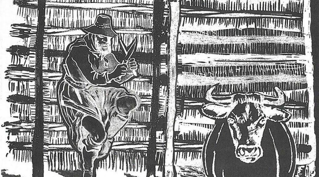 """Ilustración de tapa """"El Matadero"""""""