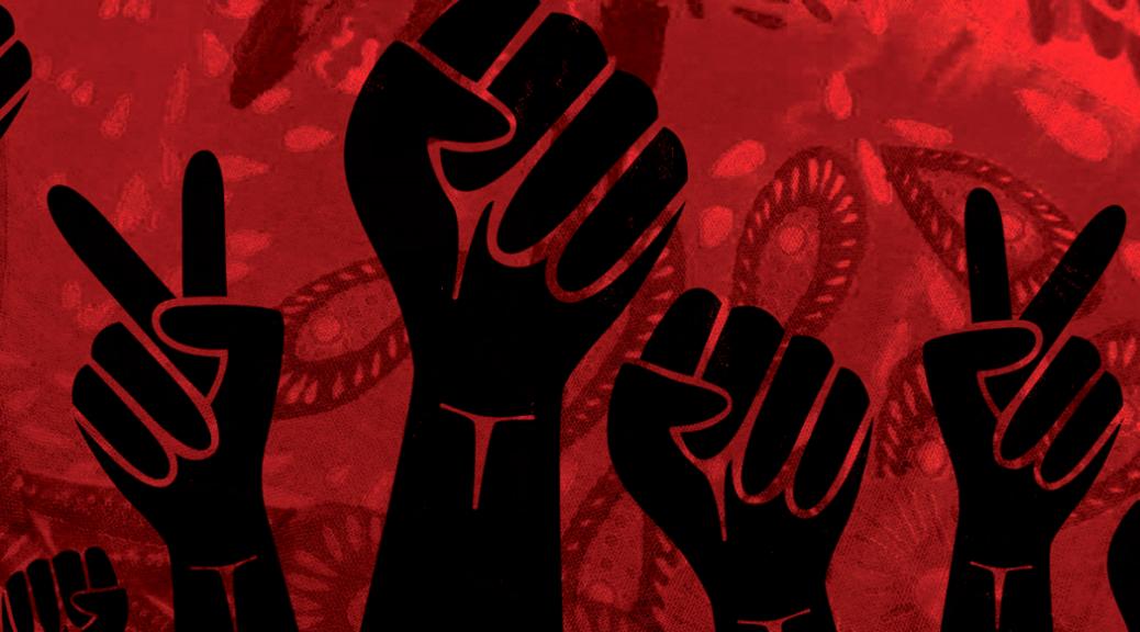 """ilustración de tapa de """"Mujeres Insurrectas. Condición Femenina y militancia en los 70"""""""
