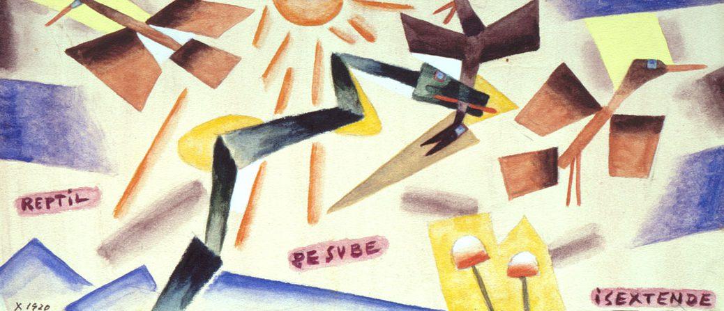 Reptil que sube – 1920 - Xul Solar